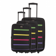 Set of 3 extensible suitcases - Black - Mexico