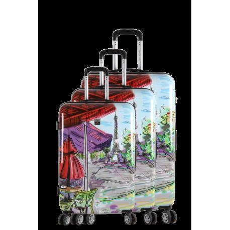 3 Hard suitcase Set - POINTE A PITRE