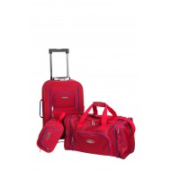 Set of 2 extensible exsuitcases +cabin bag + toilet kit