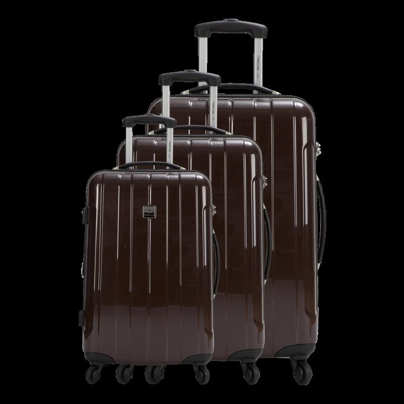 set de 3 valises extensibles rigides france bag. Black Bedroom Furniture Sets. Home Design Ideas