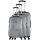 Set of 3 hard shell extensible suitcases